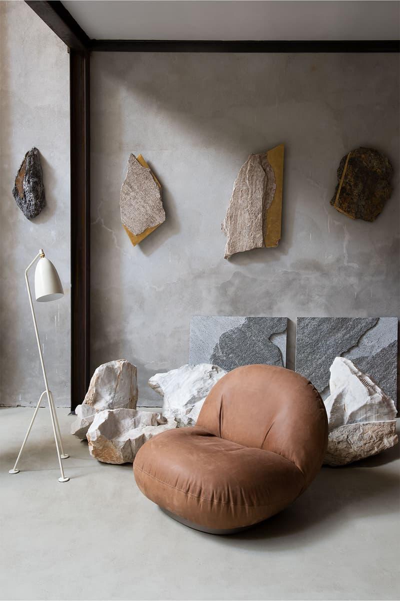 gubi minimalist lounge chairs pacha sofa ottoman couch armrest home interior design furniture price