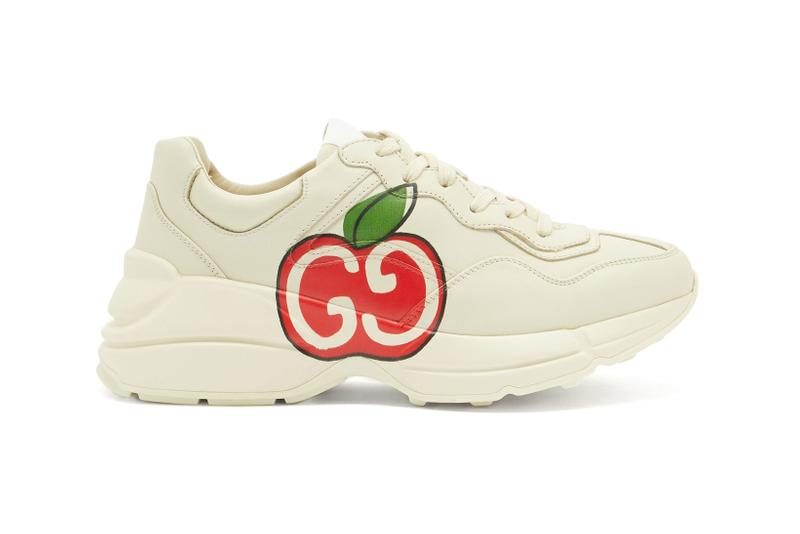 Gucci Rhyton Apple-Print Sneaker White