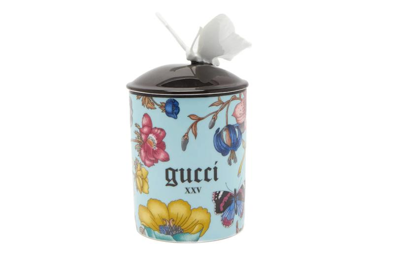 gucci home accessories souvenir from rome collection flora scented candles porcelain trinket jewelry boxes trays star eye mugs