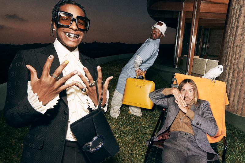 Gucci Tailoring Collection Campaign ASAP Rocky Tyler The Creator Iggy Pop Harmony Korine