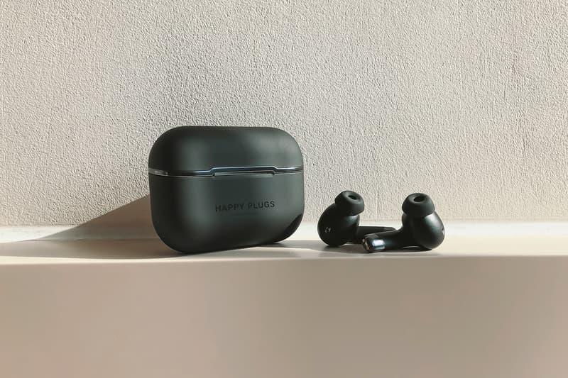 happy plugs wireless earphones noise canceling technology stockholm black