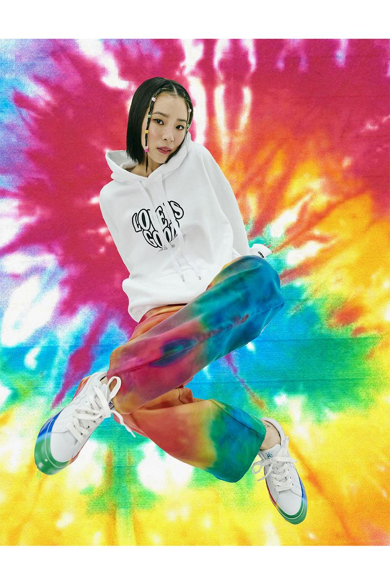 irene kim ireneisgood label tiktok friends character collaboration rainbow tie-dye unicorns hoodies t-shirts sweatshirts beanies