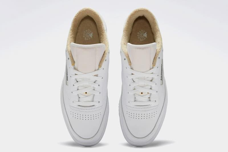 jjjjound reebok club c white tan minimalist sneakers collaboration release info