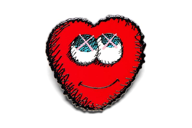 kaws ngv collection moma design store companion bff pin badges