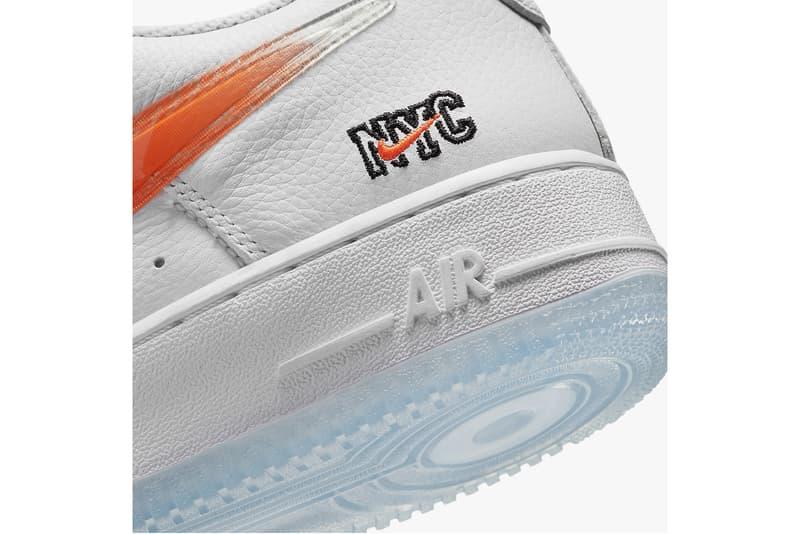 kith nike collaboration air force 1 low sneakers white orange blue shoes footwear sneakerhead ronnie fieg