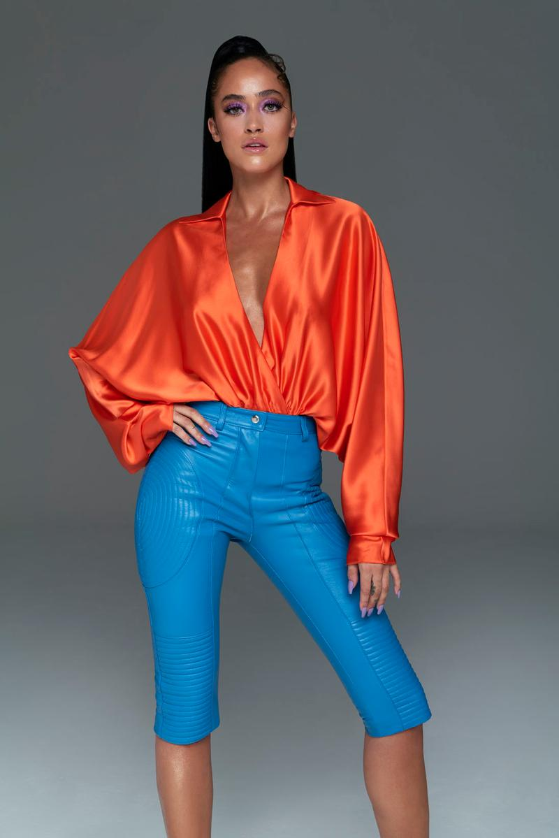 laquan smith spring summer 2021 lookbook 70s fashion dresses blouses bodysuits new york fashion week nyfw