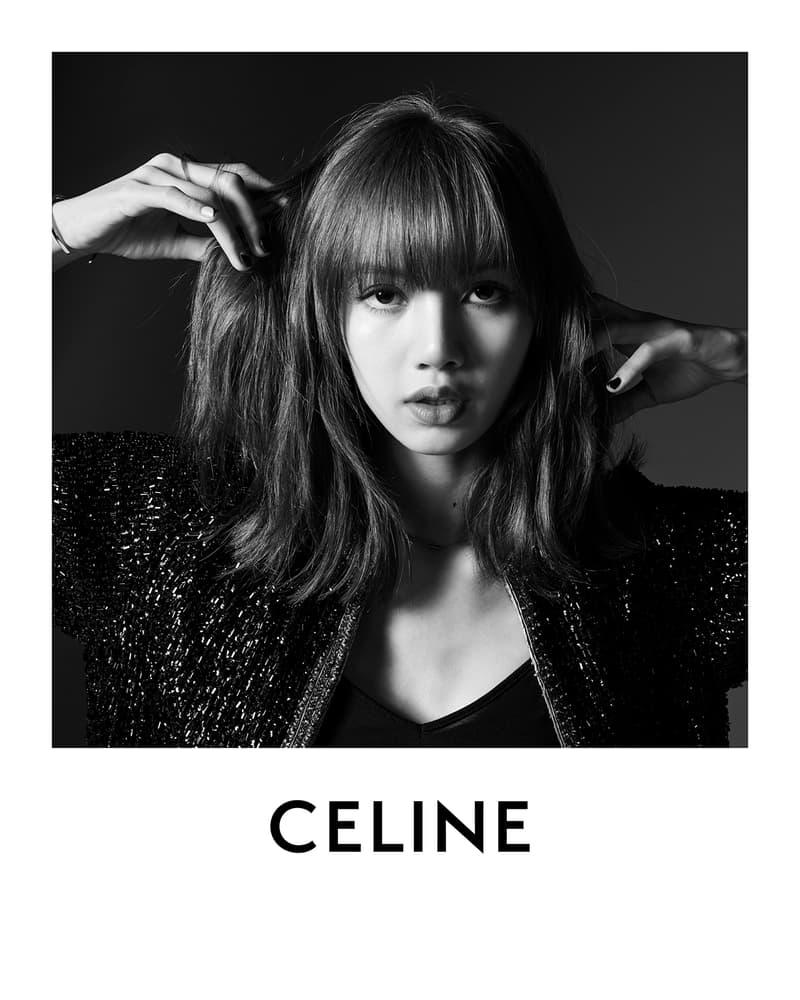 BLACKPINK Lisa CELINE Campaign Hedi Slimane Black and White Global Brand Ambassador