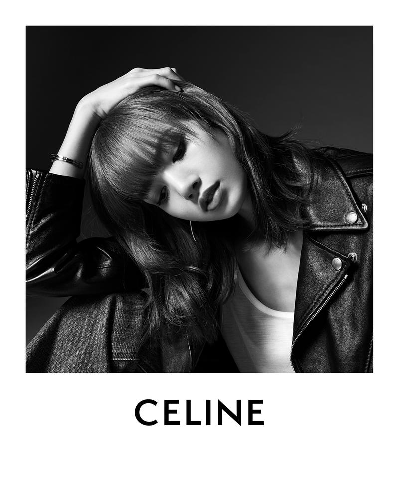 BLACKPINK Lisa CELINE Campaign Hedi Slimane Black and White Global Brand Ambassador Leather Jacket