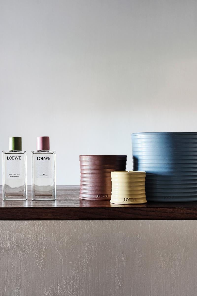 loewe home scents collection ceramic candles candlesticks diffusers fragrances