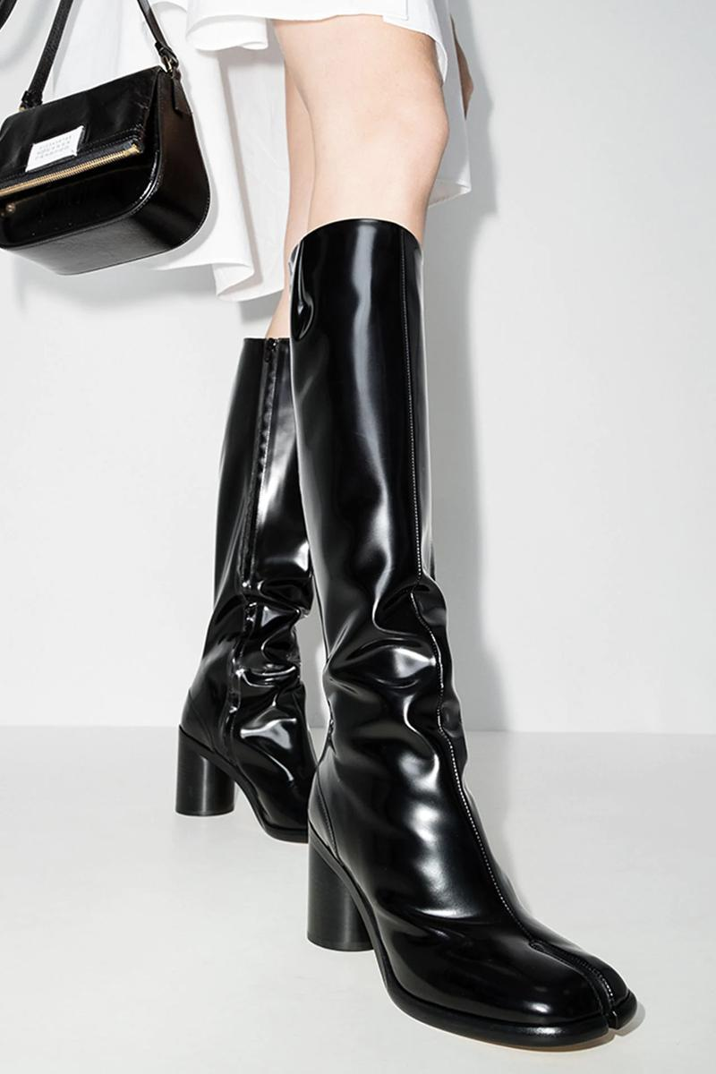 Maison Margiela Knee-High Tabi Boot Patent Leather