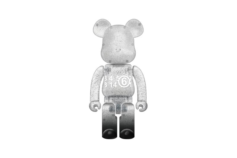 MM6 Maison Margiela BE@RBRICK Collaboration Glitter Figurine Toy Silver