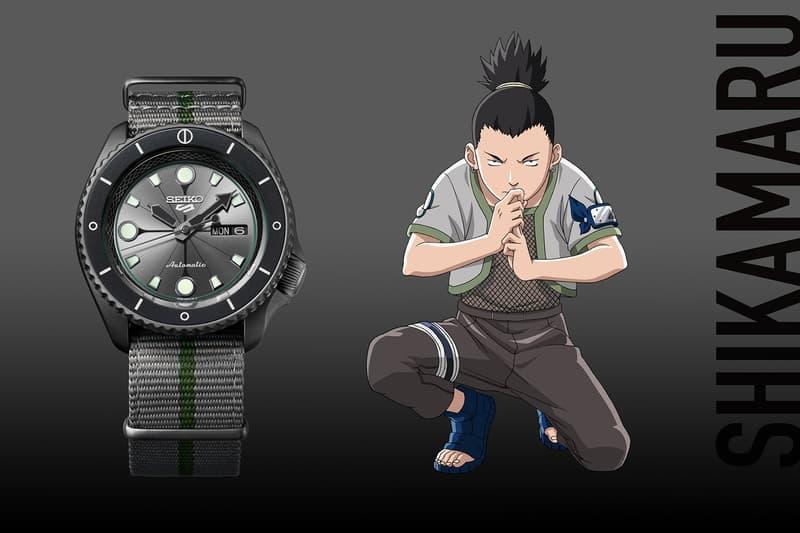 seiko 5 sports naruto themed watches boruto sasuke gaara limited edition anime manga accessories release info