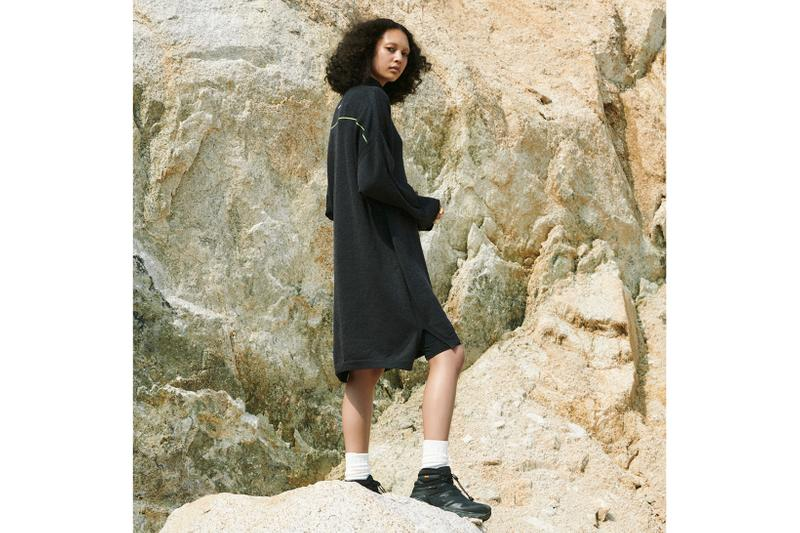 New Balance Tokyo Design Studio Tunic Dress Sweater Black