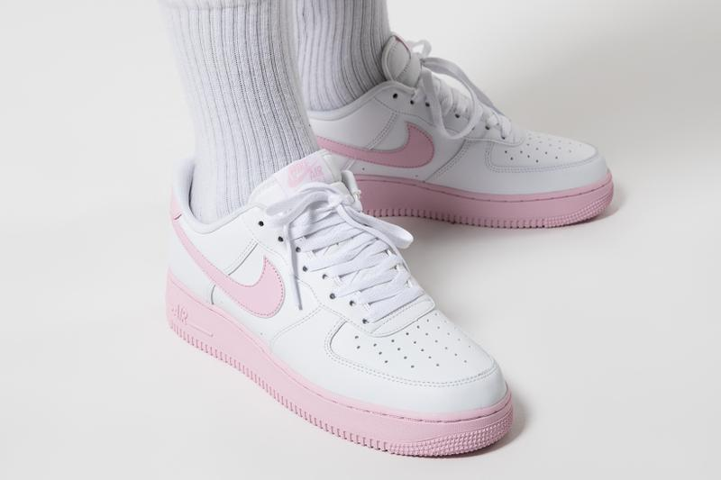 nike air force 1 07 sneakers pink white colorway shoes footwear sneakerhead