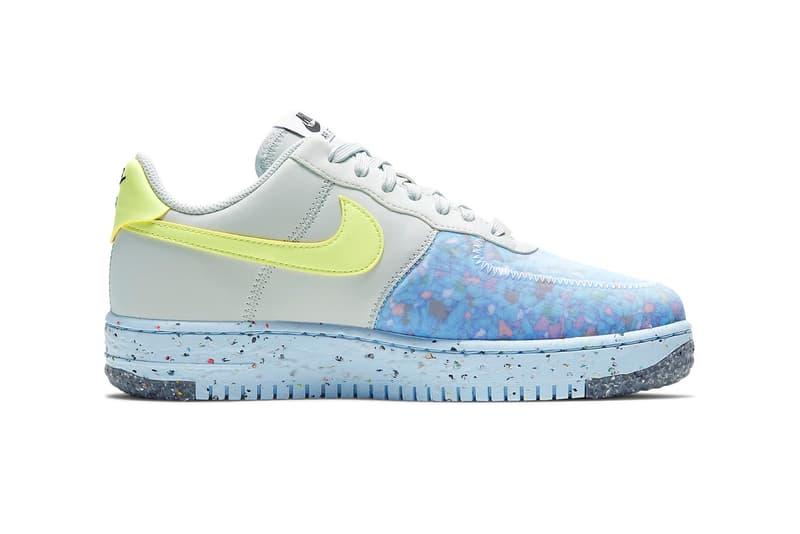 nike air force 1 crater womens sneakers neon green pastel blue gray colorway shoes footwear sneakerhead