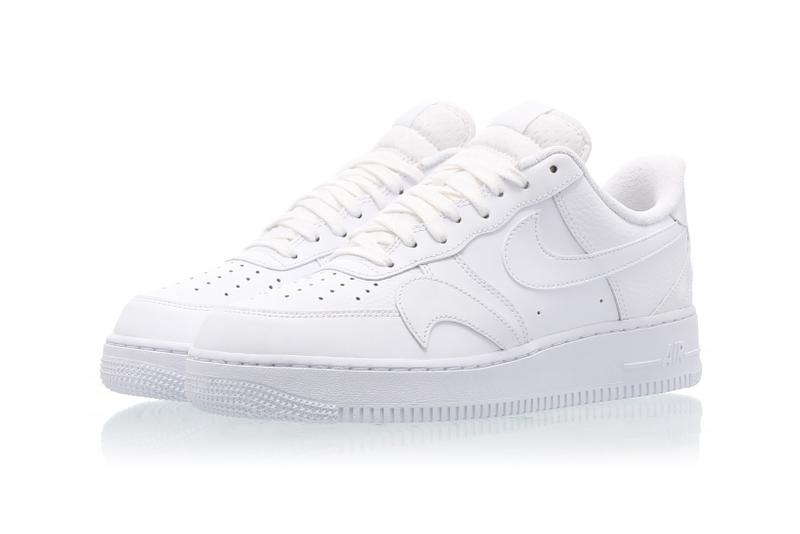 nike air force 1 low lv8 sneakers white colorways misplaced swoosh sneakerhead footwear shoes