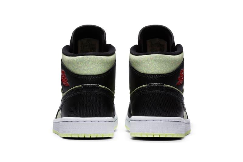nike air jordan 1 mid se womens sneakers pastel green black red white shoes footwear sneakerhead