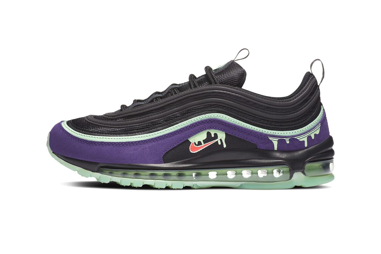 nike air max 97 black purple green