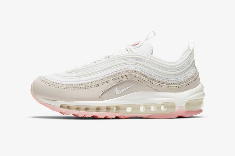 nike air max 97 womens sneakers beige white pink colorway shoes footwear sneakerhead