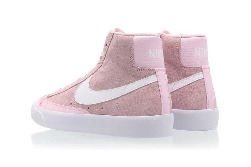 nike blazer mid vintage 77 womens sneakers pink white shoes footwear sneakerhead