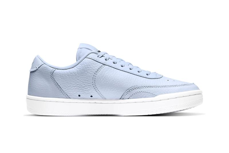 nike court vintage premium womens sneakers pastel blue white colorway shoes footwear sneakerhead