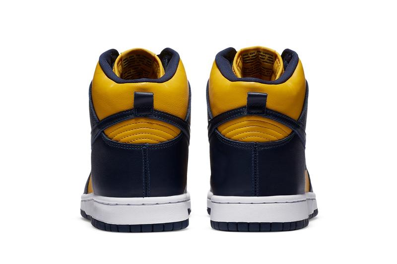 nike sb dunk high michigan maize blue yellow sneakers release info