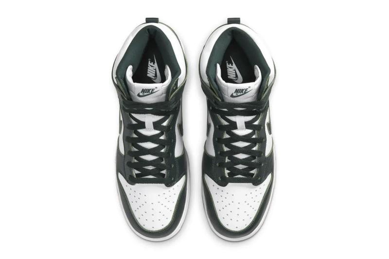nike sb dunk high spartan green white sneakers release info
