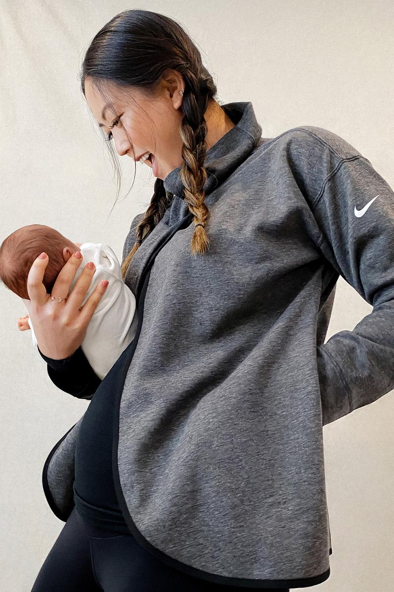 nike m maternity wear launch pregnant mothers moms postpartum inclusivity diversity bras tank tops leggings tights