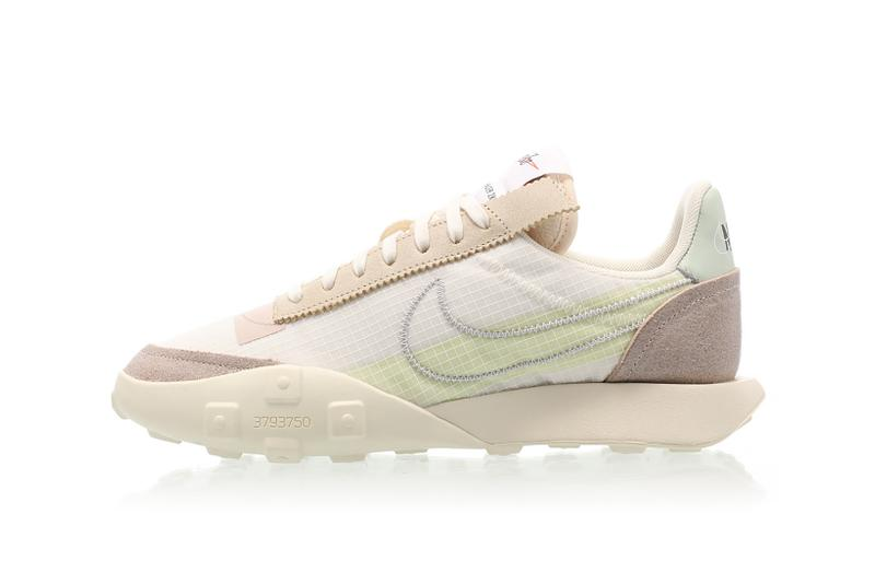 nike waffle racer lx womens sneakers mint green cream white brown shoes footwear sneakerhead
