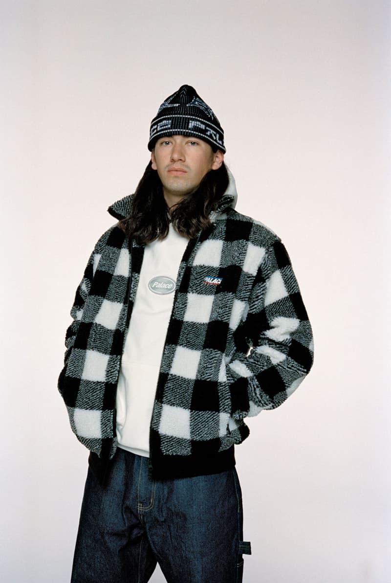 palace skateboard winter lookbook gore-tex outerwear fleece jackets suede bomber knit sweaters release info