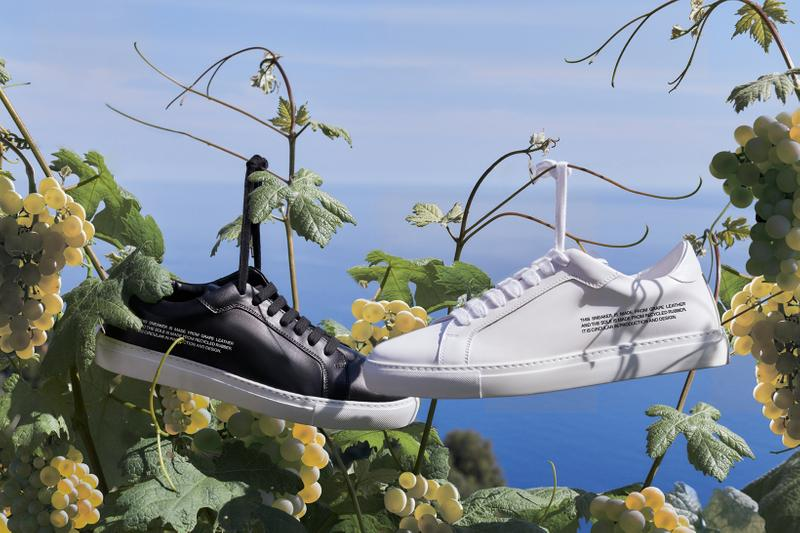 Pangaia Sneaker White Zero-Waste Grape Leather