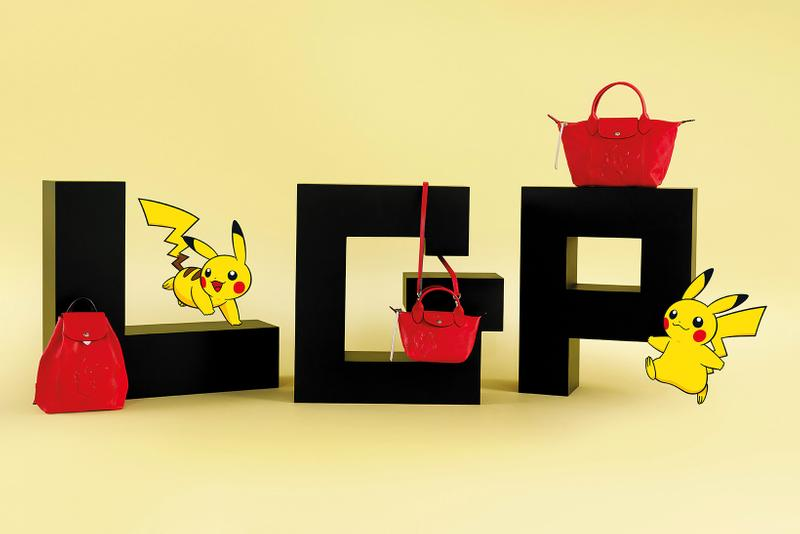 Pokémon x Longchamp Bag Collaboration Collection Pikachu Le Pilage Tote Mini Red