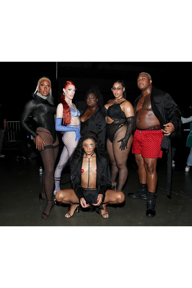 Rihanna Savage X Fenty Fall/Winter 2020 Show Collection Backstage Lingerie Paloma Elsesser Nadia Lee Cohen Noah Carlos