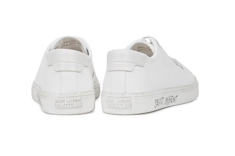 saint laurent canvas sneakers malibu white handwritten logo price minimal