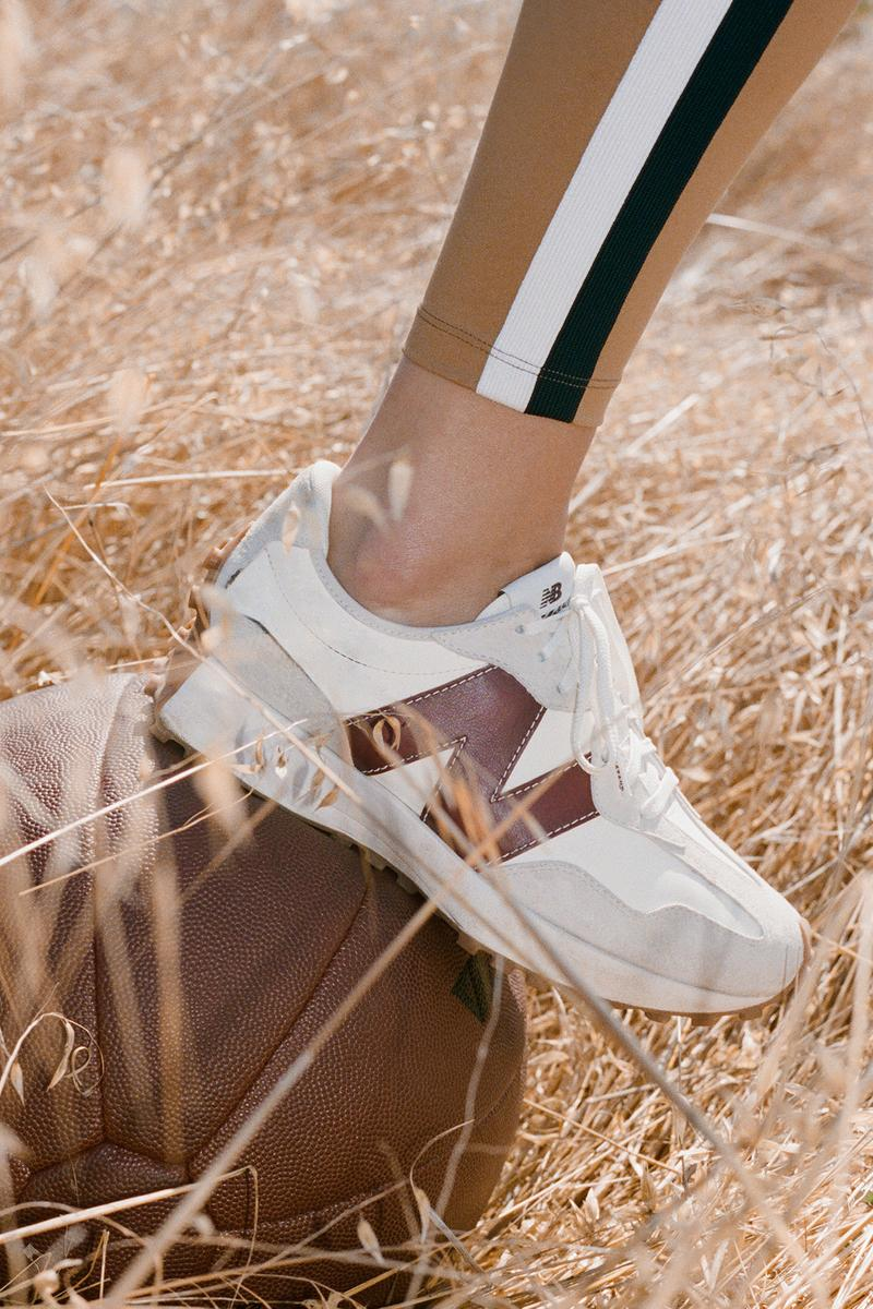 STAUD x New Balance Activewear Collaboration Collection 327 Sneaker
