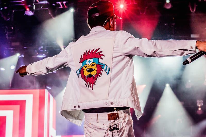 chance the rapper stage jacket cross stitch gawd emma mckee