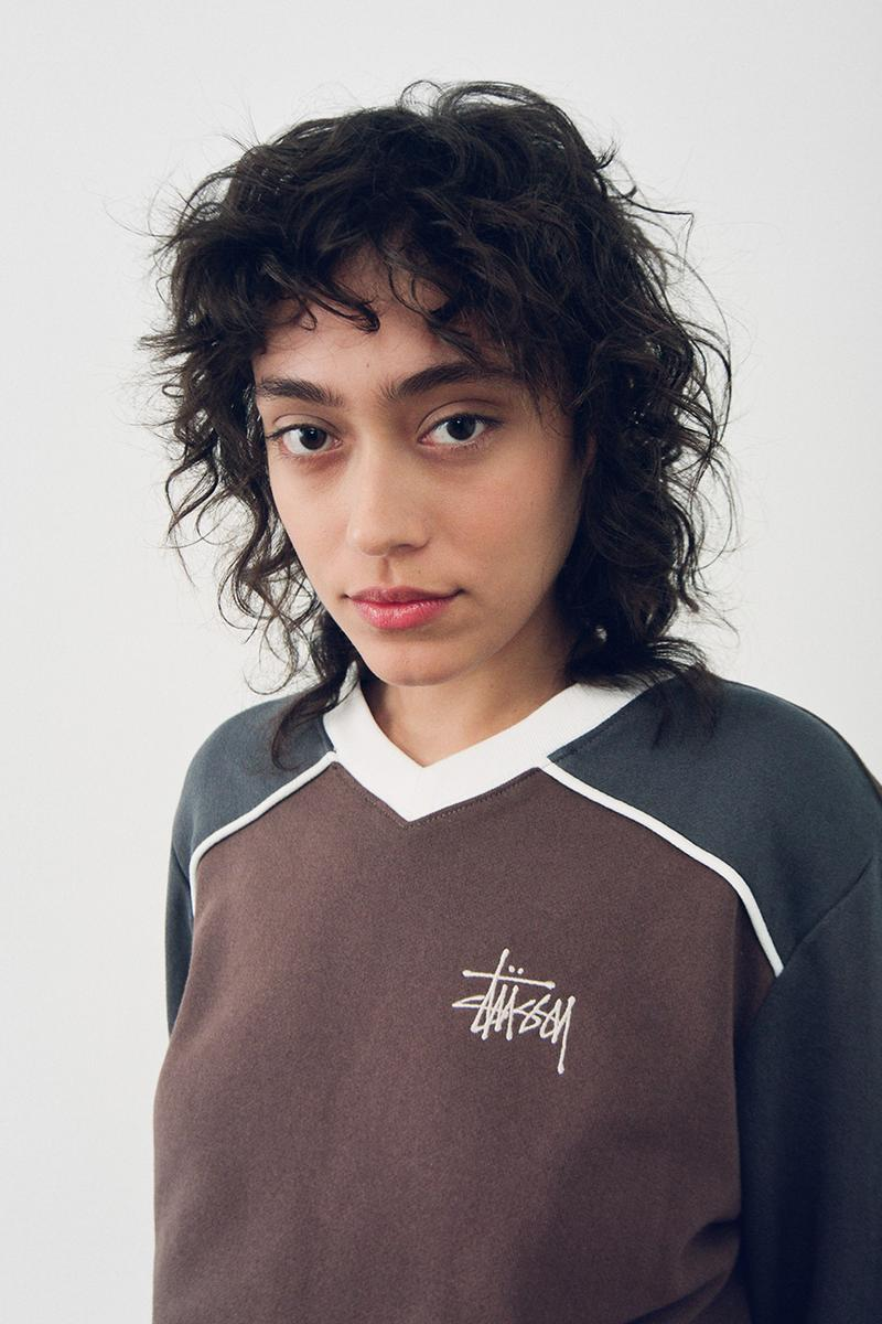stussy fall womenswear collection lookbook hoodies fleece jackets knit sweaters
