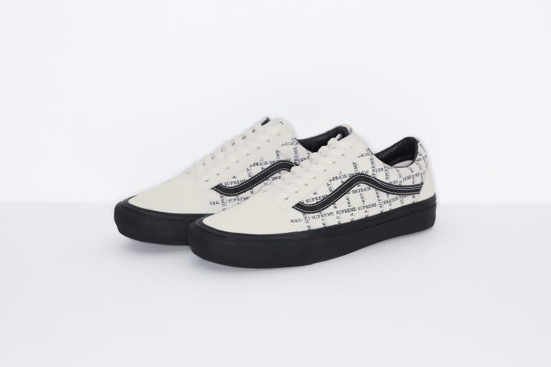 supreme vans collaboration half cab old skool pro sneakers white blue black shoes footwear sneakerhead