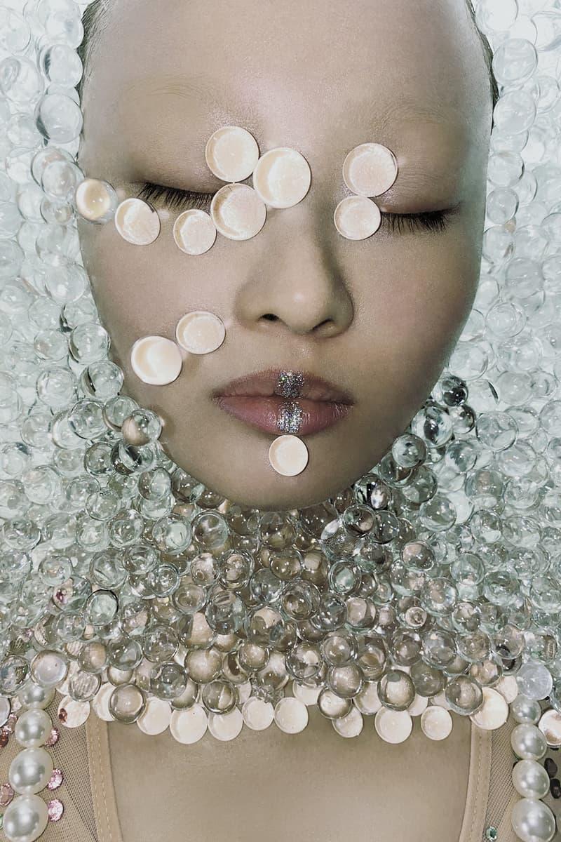 susan fang fall winter 2020 campaign glass beads portrait shot