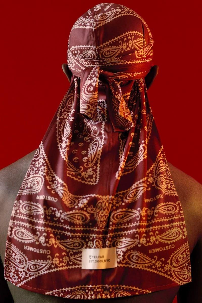 Telfar Durag Collection Bandana Red
