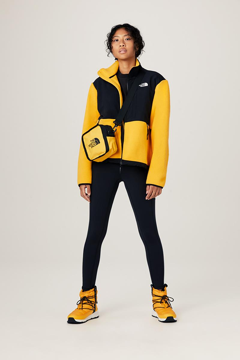 the north face fall winter collection jackets parka outerwear bags beanies yellow summit gold colorway