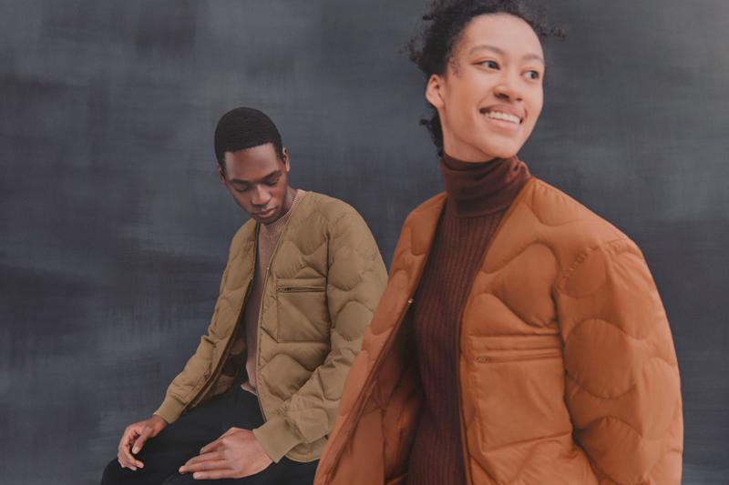 UNIQLO RE.UNIQLO Recycled Down Jacket Puffer Brown Orange