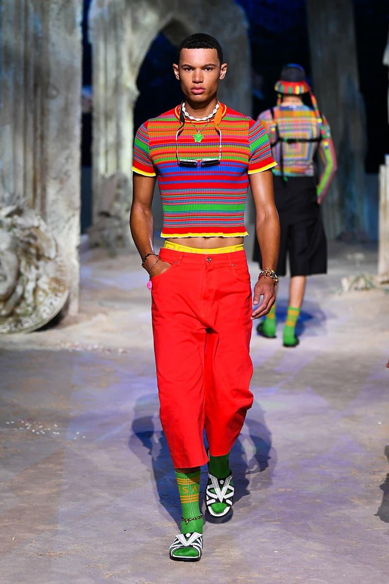 versace spring summer 2021 collection paris fashion week pfw adut akech irina shayk