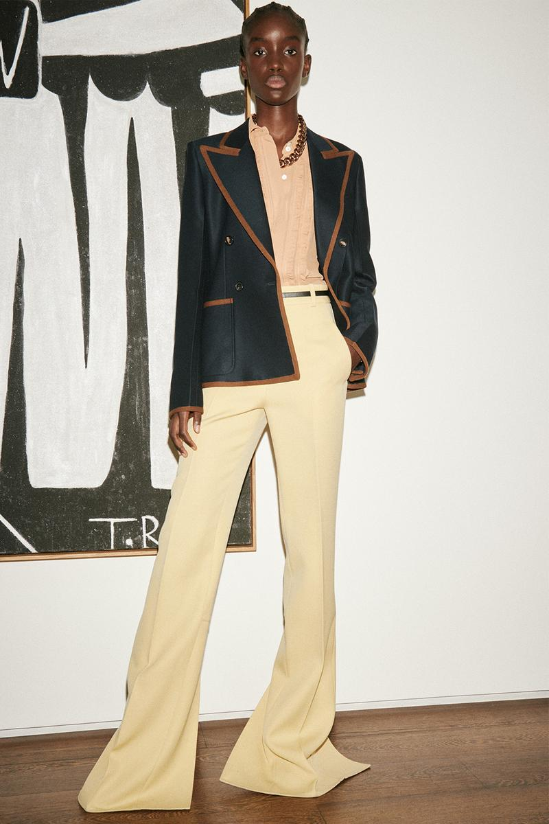 victoria beckham spring summer 2021 presentation suits dresses flared pants london fashion week lfw