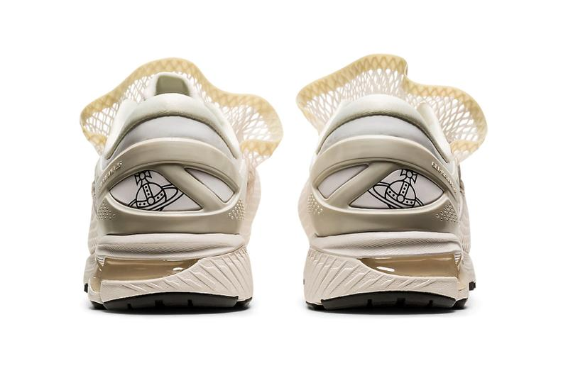 vivienne westwood asics gel kayano 26 white black netting sack sneakers collaboration release price