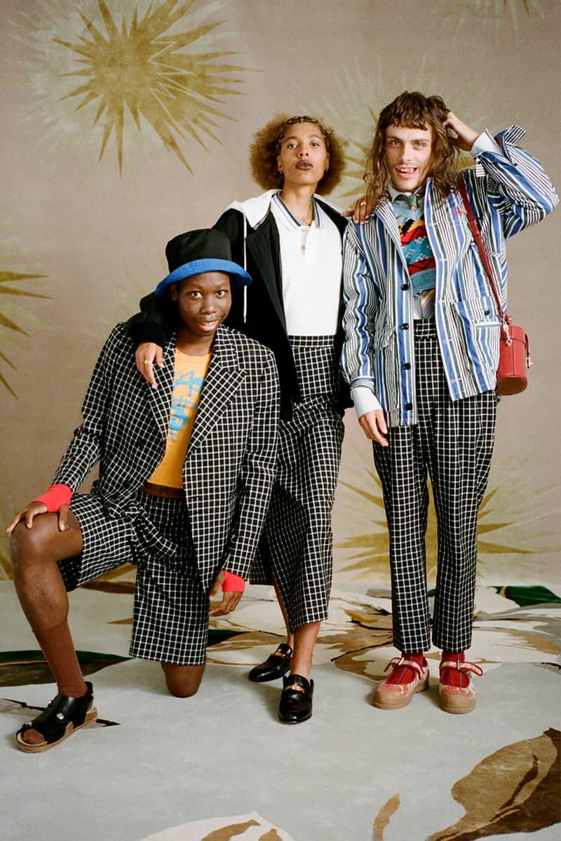 vivienne westwood spring summer 2021 lookbook video tailoring suits cardigans isamaya ffrench georgia palmer dott cotton clown