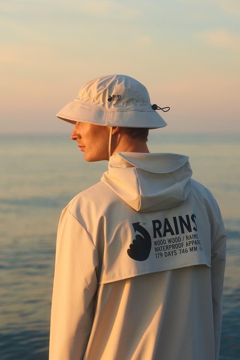 Wood Wood x RAINS Collaboration Fall Winter 2020 Collection Raincoat Hat