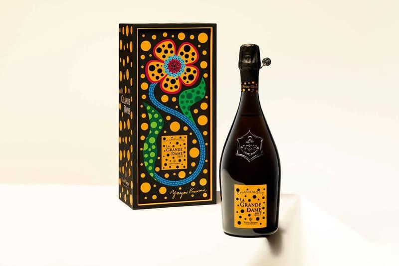 yayoi kusama veuve clicquot champagne la grande dame bottle gift box collaboration