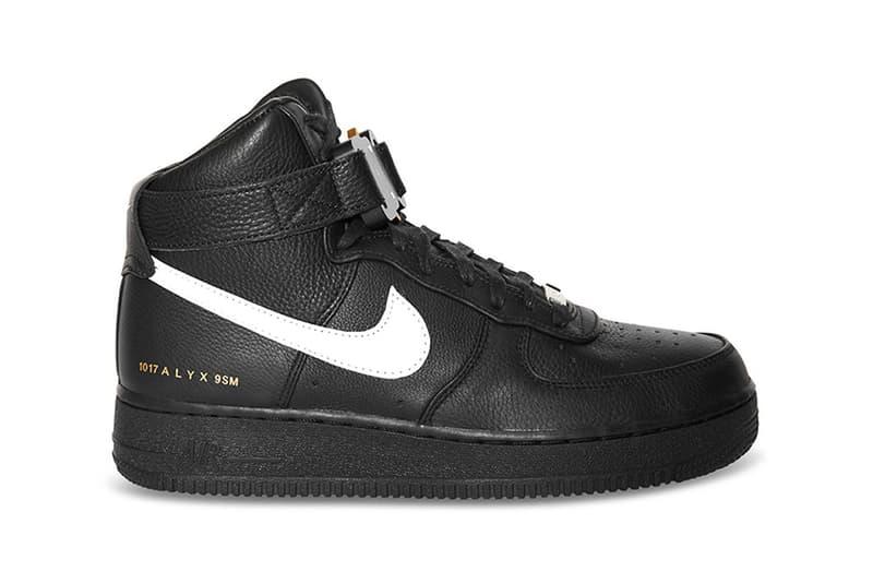 1017 ALYX 9SM x Nike Air Force 1 High Black White
