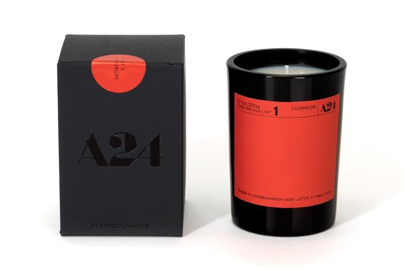 a24 film-themed joya genre candles home scents restock horror thriller noir sci fi rom com